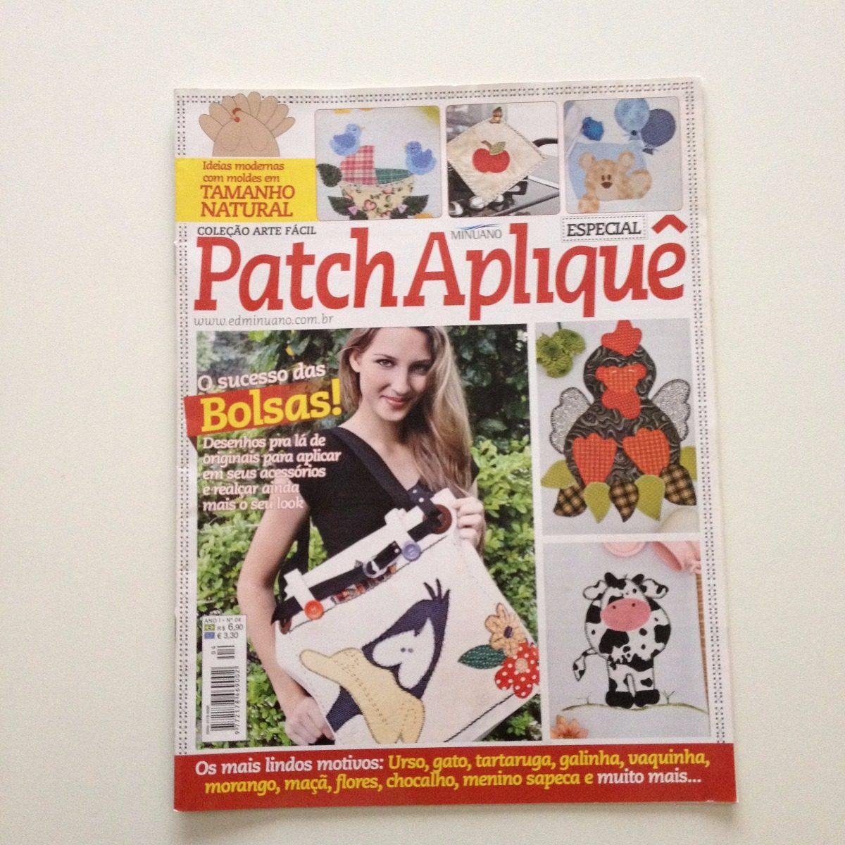 b7e6ce50b Revista Arte Fácil Patch Apliquê Bolsas N°04 - R  23
