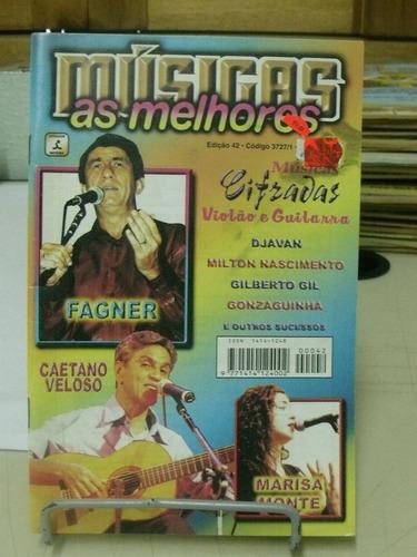 revista - as melhores músicas - caetano veloso/ fagner/ mari