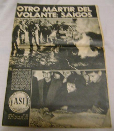 revista asi n° 488 25 de mayo de 1965 muerte de saigos