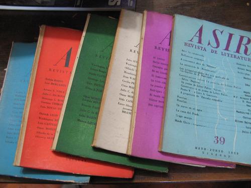 revista asir. 6 números 34 al 39. años 1954-1959