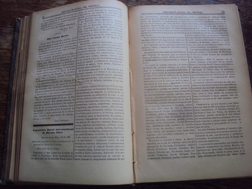 revista asociacion rural d uruguay 1886 año xv encuadernado