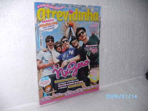 revista atrevidinha nº56 nx zero +brinde *calendário (usada)