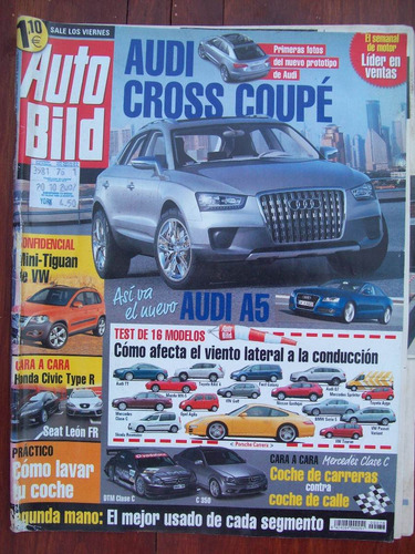revista auto bild audi cross coupe mini tguan vw h civic typ