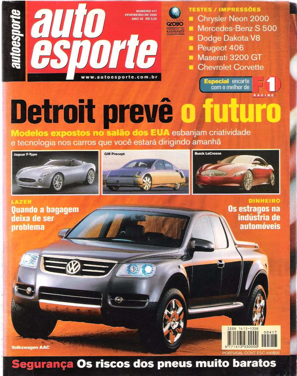 758c6e3fb Revista Auto Esporte No.417 Fevereiro De 2000 - R  17