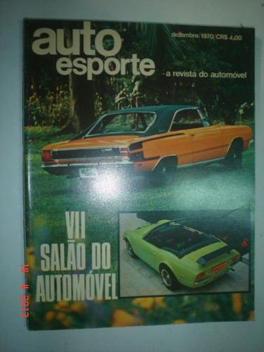 revista autoesporte 1970 nº 74 charger opala ss galaxie o352