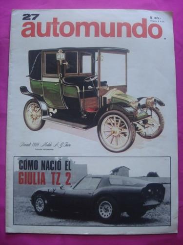 revista automundo n° 27 - renault 1910 a. g. fiacre