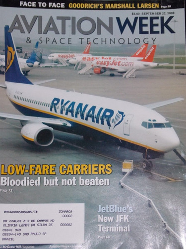 revista aviation week setembro 2008 low fare carriers