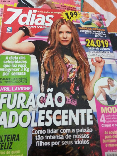 revista avril lavigne e poster raro 2005
