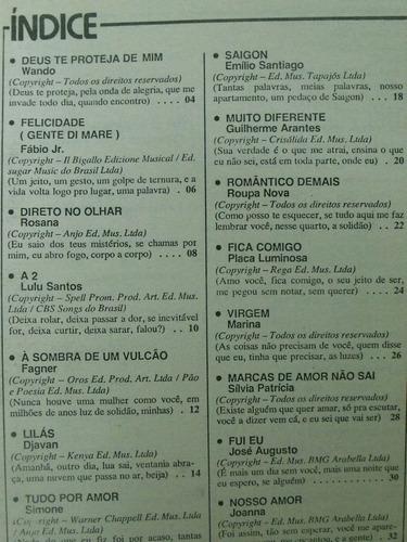 revista - baladas - fábio jr/ lulu santos/ wando/ fagner