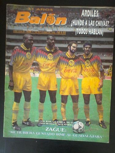 revista balón no. 1628 del año 1993. américa, zague