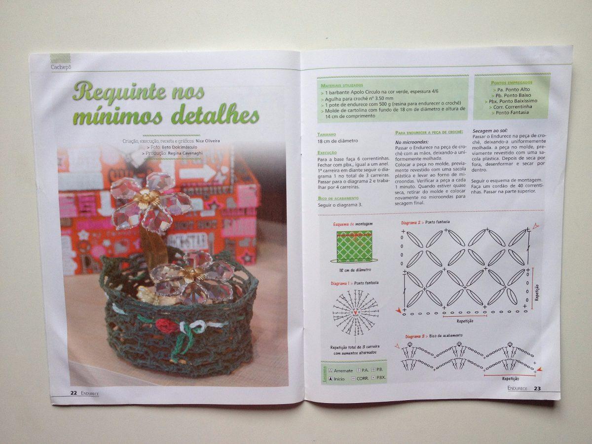 Revista Barbante Fruteiras Cachepôs Caixinha Porta-vinho Nº1 - R  27 ... 7010c8979c6