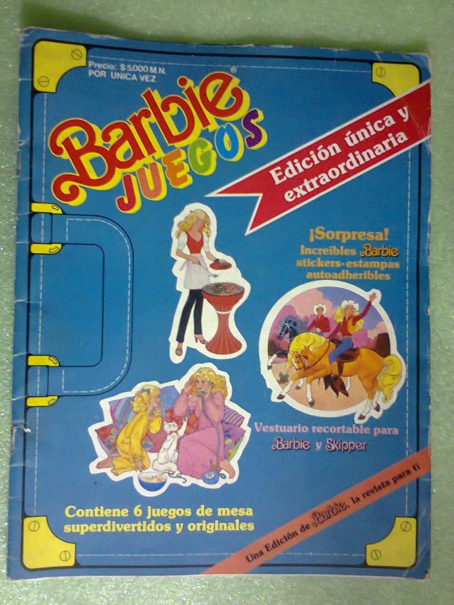 Revista Barbie Especial 6 Juegos De Mesa Mexico 1987 299 00 En