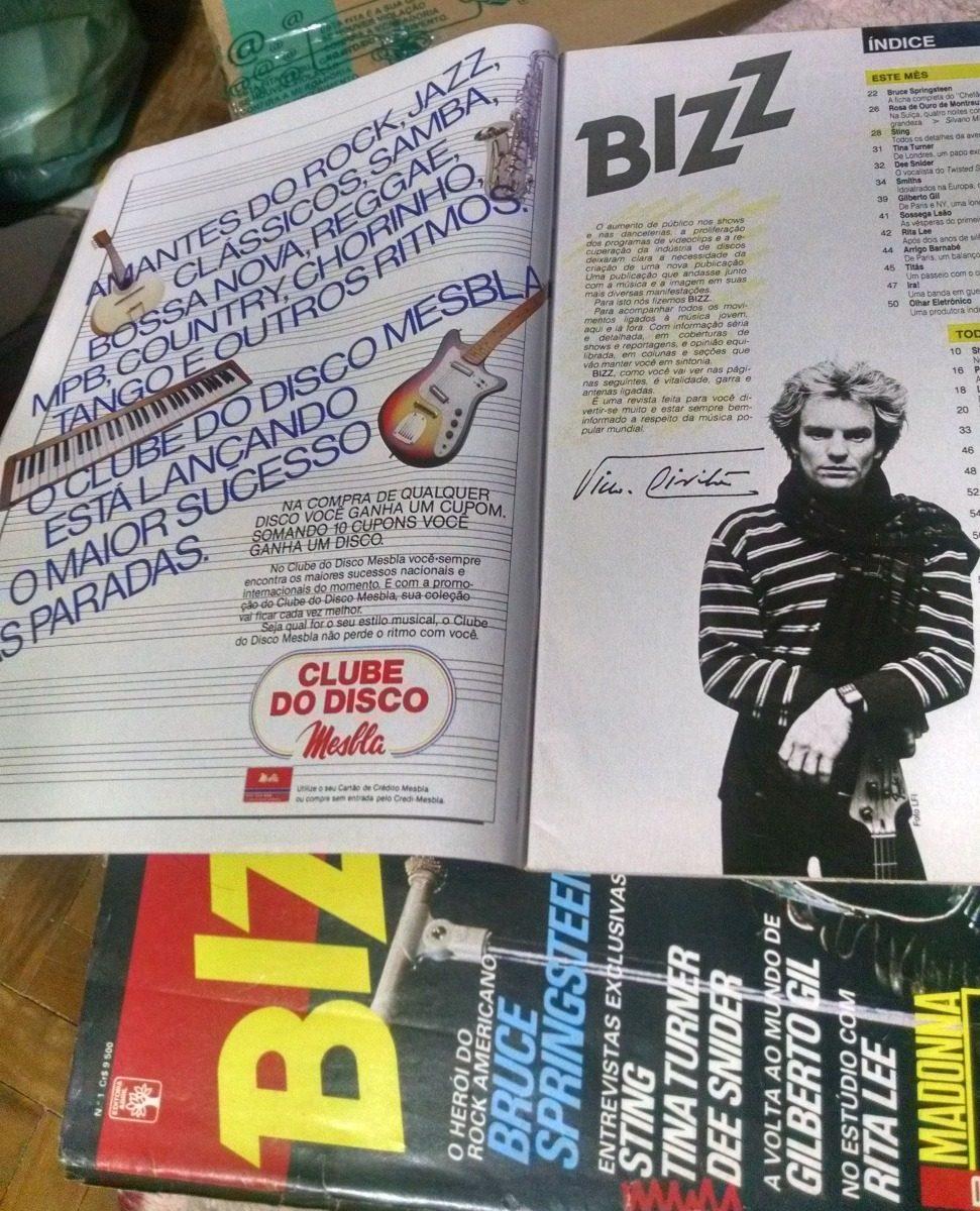 3caa709e86 Revista Bizz Para Colecionador Edicao 001 1985 - R  120