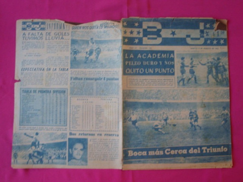revista bj año 1955, nº 122 - boca vs