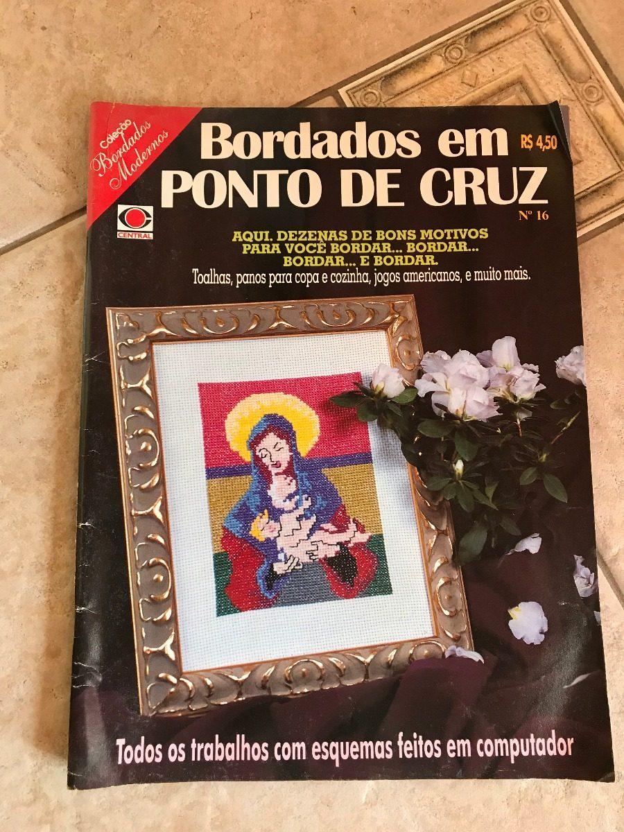 Revista Bordados Em Ponto Cruz 16 Toalhas Panos Cozinha R 23 00  ~ Ponto Cruz Cozinha Moderna