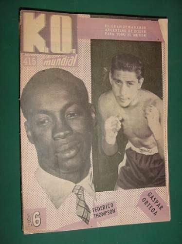 revista boxeo - ko mundial - 415 - federico thompson ortega