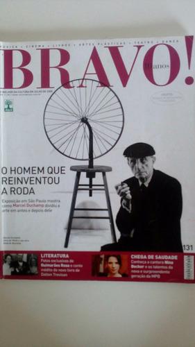revista bravo  nº 131 - marcel duchamp, guimarães rosa