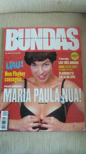 revista bundas nº9 de agosto 1999 - raridade