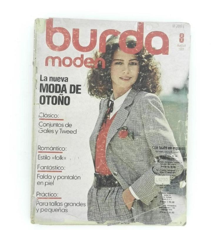 Revista Burda Abril 1992 Incluye Patrones Y Cuadenillo 6 000 En Mercado Libre