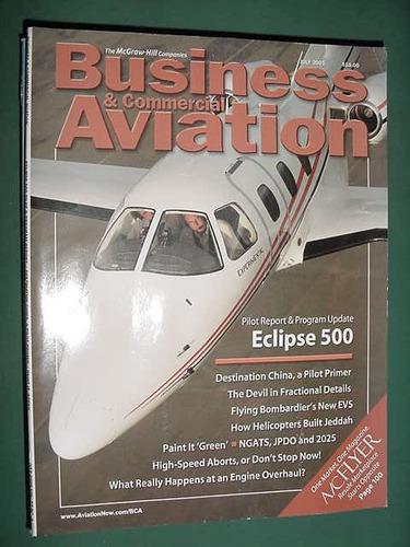 revista business comercial aviation 7/05 eclipse 500 aviones
