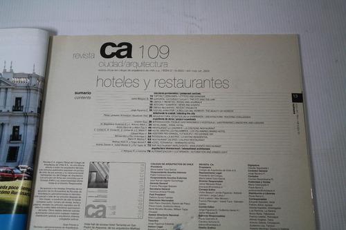 revista ca ciudad y arquitectura numero 109 año 2002