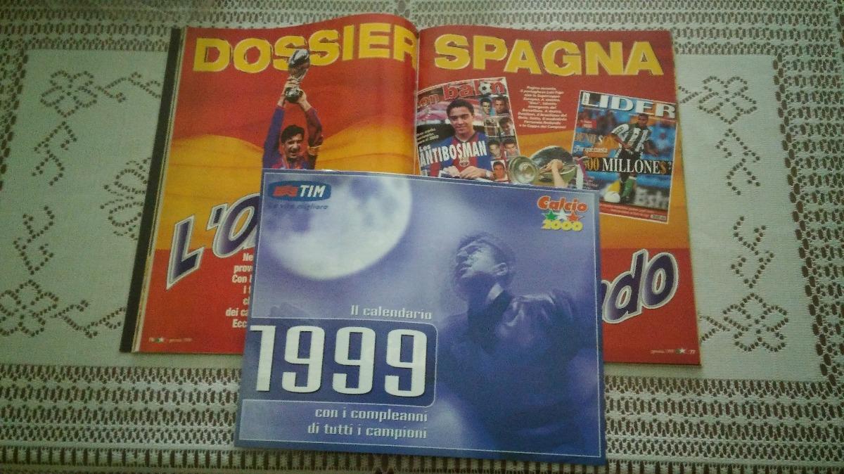 Como Calcio Calendario.Revista Calcio 2000 Enero 1999 Envio X Oca Con Calendario 200 00