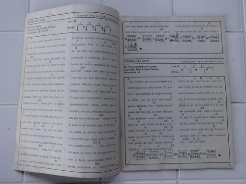 revista cante comigo especial nº 1 raul seixas - letras 1985