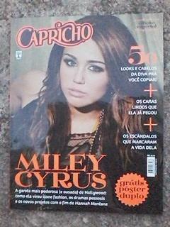 revista capricho/miley cyrus