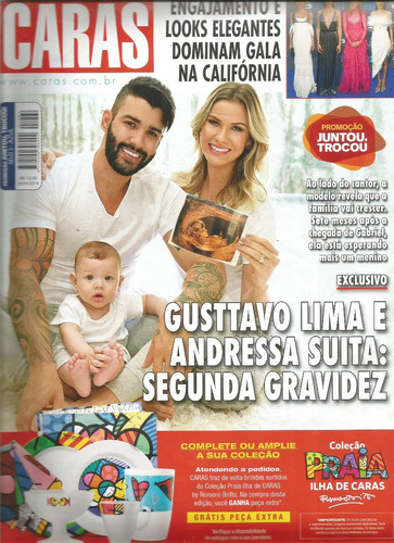 revista caras 1264/18 - gusttavo lima - luan santana