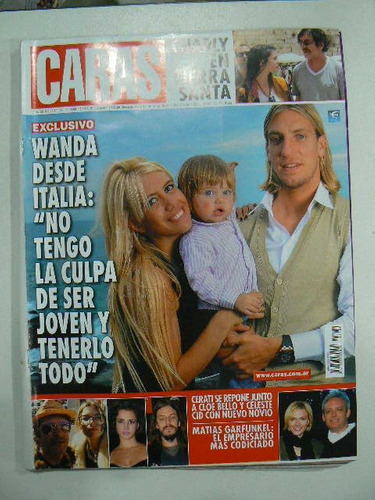 revista caras n 1480 wanda desde italia en la plata