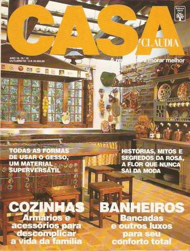 revista casa claudia - rosa / gesso / banheiros / gengibre
