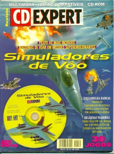 revista cd expert simuladores de voo 30 jogos completos