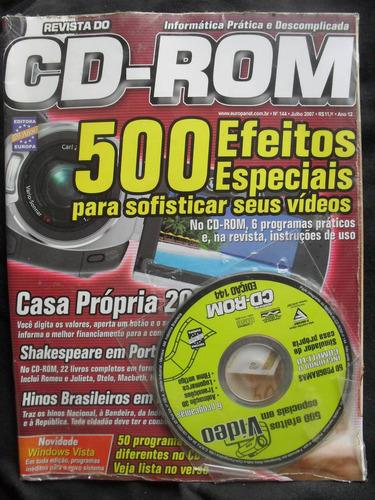 revista cd-rom 500 efeitos especiais seus videos+cd nº 144..