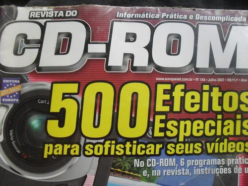 revista cd-rom 500 efeitos especiais seus videos nr.144 + cd