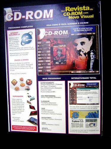 revista cd rom nº 62 - 19 programas 3 completos + disco cd