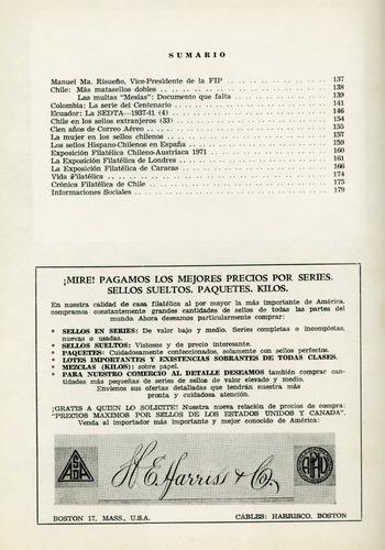 revista chile filatélico nº 180 - diciembre 1970