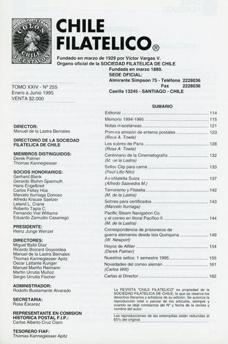 revista chile filatélico nº 255 - enero/junio 1995