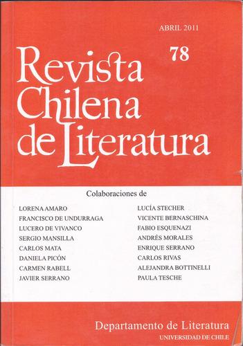 revista chilena de literatura no, 78 abril 2011