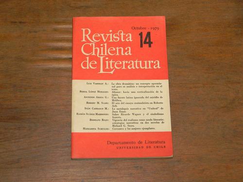 revista chilena de literatura . octubre 1979 .
