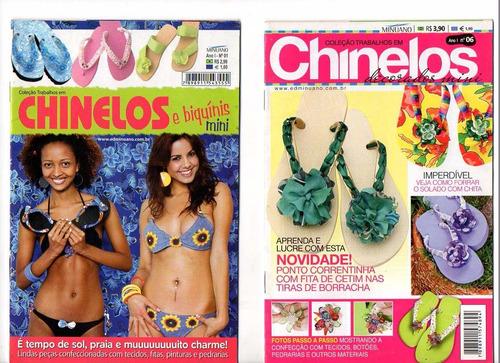 revista chinelos kit c/8 unidades. artesanato chinelos