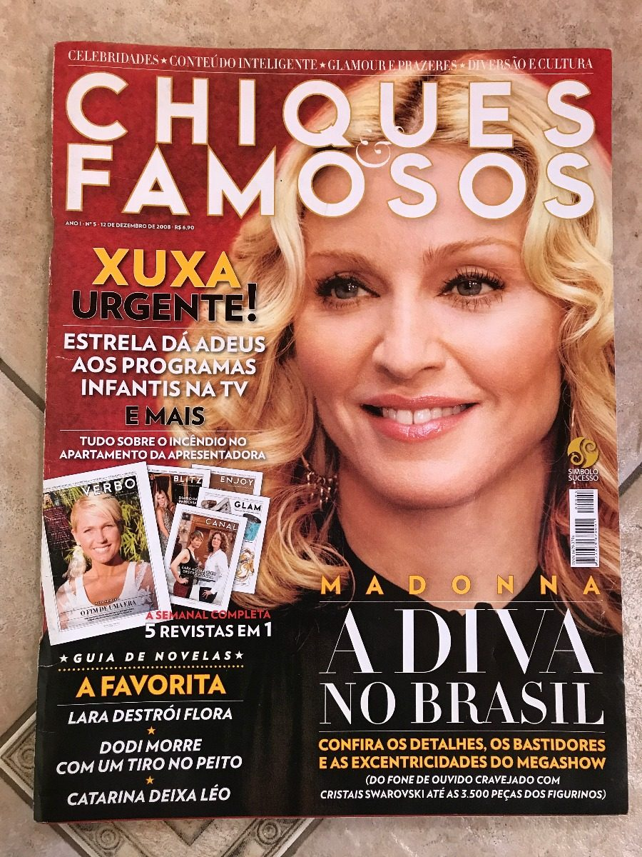 Revista Chiques E Famosos 5 Madonna Xuxa Deborah Secco - R  40,00 em ... 9d512d10e5