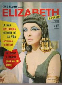 73c8e7101 Revista Cine Album Edición Especial Elizabeth Taylor 1963