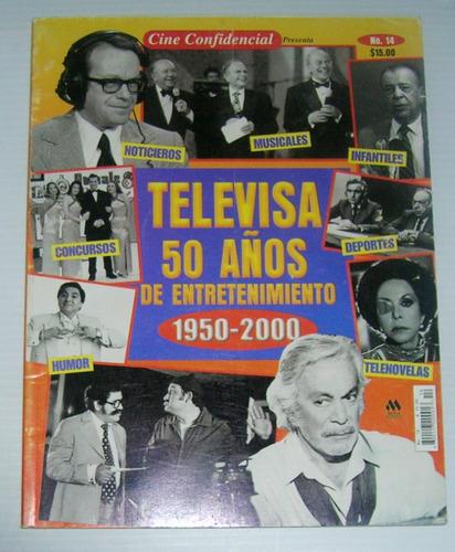 revista cine confidencial televisa 50 años numero especial