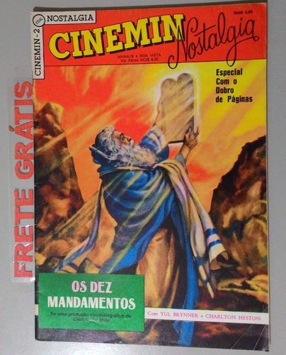 revista cinemin nostalgia - os dez mandamentos - nº 2