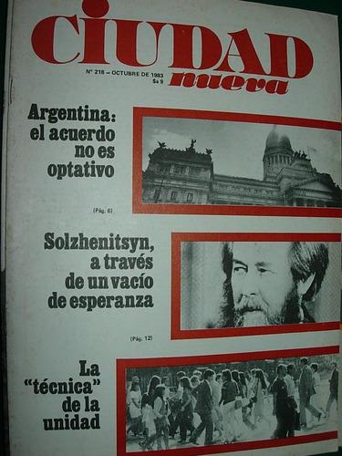 revista ciudad nueva religion 218 solzhenitsyn argentina