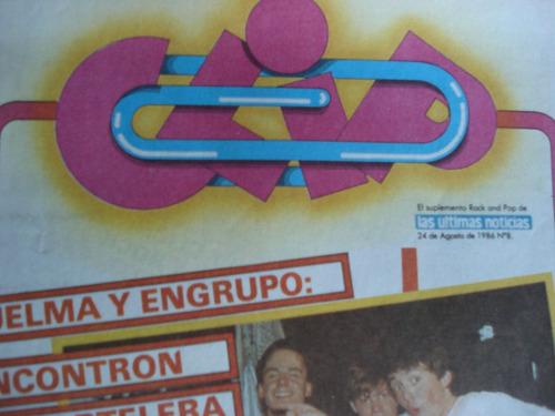 revista clip num 8 rock chileno y latino (pancho puelma )