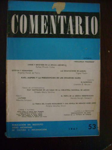 revista comentario nº 53 - 1967 microcentro/retiro