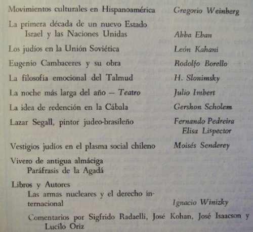 revista comentario nº19 weinberg abba eban kohani scholem