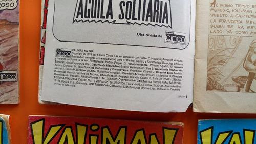 revista comics antigua kaliman 1976 precio x c/u