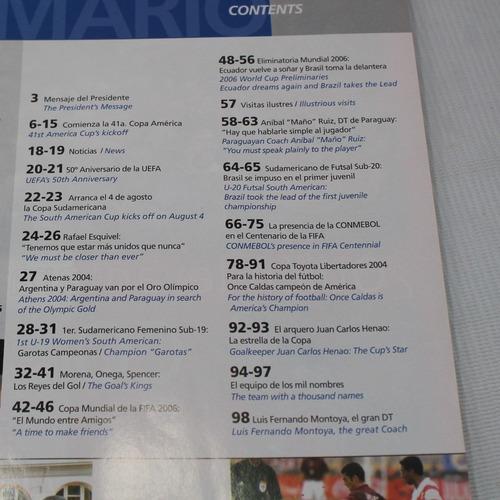 revista conmebol argentina campeon olimpico 2004